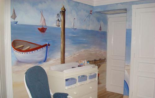 画出趣味3d效果 儿童房手绘背景墙欣赏(图)