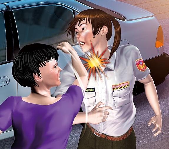 90后女警察王-违法停车后拳揍女警 基隆市长议员为其关说