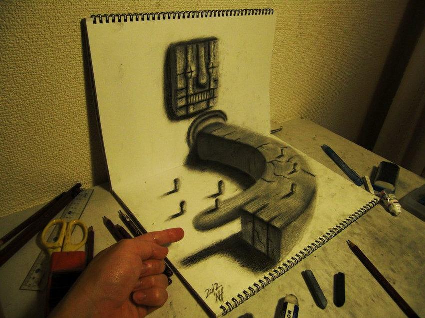 3D立体素描创作图片