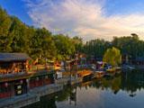 """北京:颐和园""""苏州街""""眺望西山雪景[组图]"""