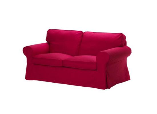红色双人沙发套