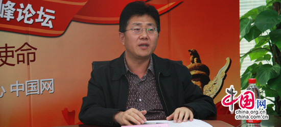 中國網總編助理薛立勝在本次論壇上致辭