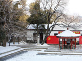 万壑晶光迎晓日——香山雪景