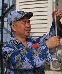 海军南海舰队南沙守备部队气象工程师李文波