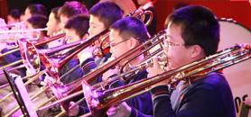 海淀区实验小学金帆管乐团现场演奏