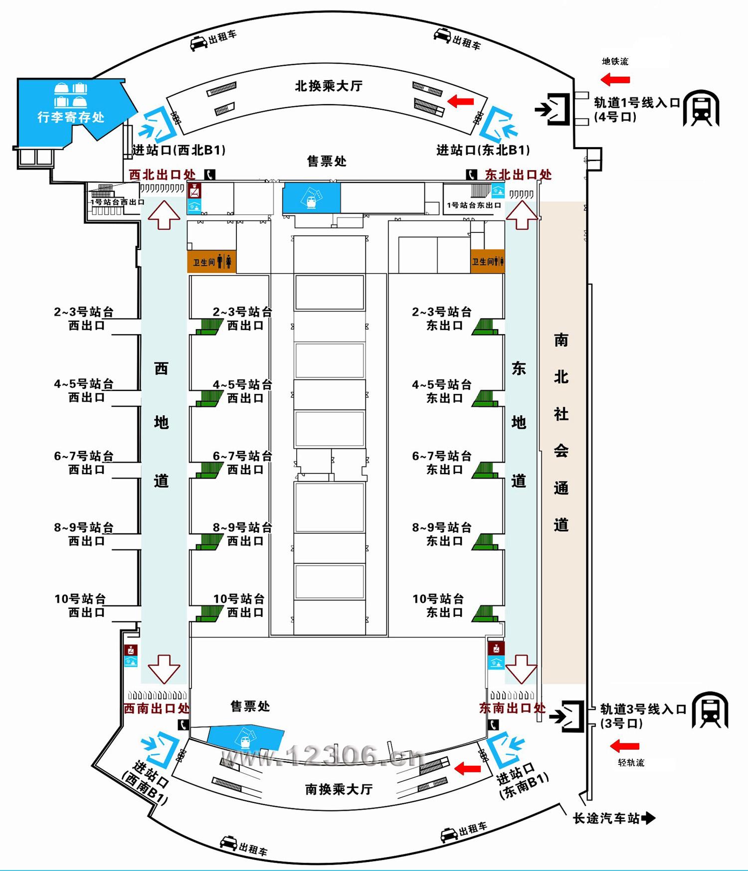 广州南站地图平面图