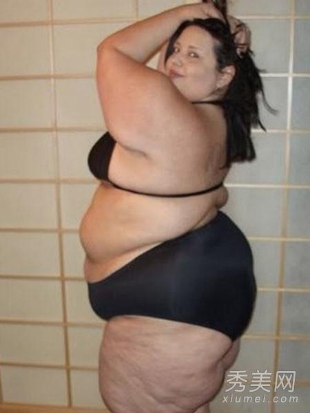 大码美女也销魂 穿比基尼秀肉肉身材图