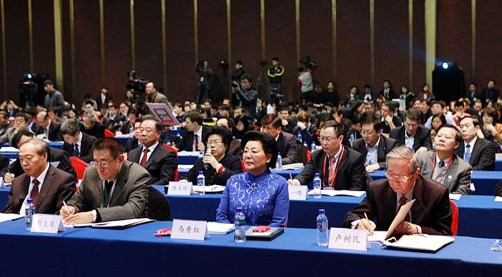2012-2013中国经济年会现场。