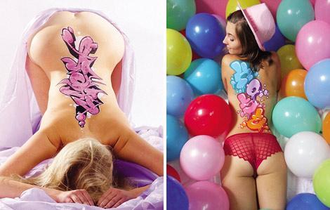 美女裸体艺术涂鸦照蹿红网路