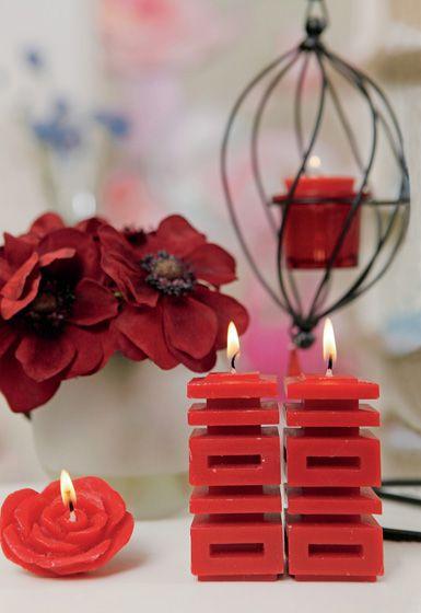 图案 时尚/BANMOO双喜字烛台传统更摩登