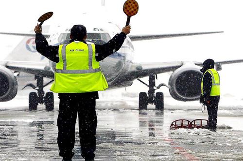 飞机场工作人员