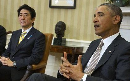 安倍 奥巴马三胖_奥巴马与安倍在白宫会谈_ 视频中国