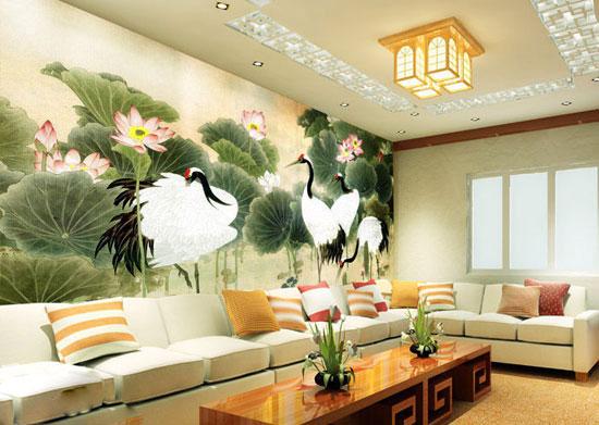 黑白云彩花纹客厅瓷砖
