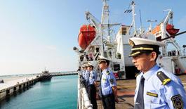 中国海监编队开始西沙海域海岛巡查