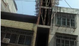 """广西南宁""""楼薄薄""""被拆该楼房宽仅1.7米(图)"""