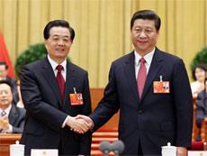 """2013年""""两会""""新老领导亲切握手[组图]"""