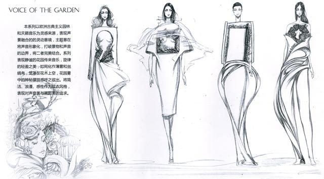 著名服装设计师及手绘