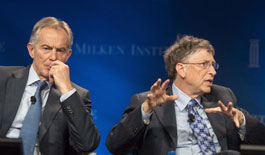 布莱尔与比尔·盖茨亮相2013梅肯研究院全球会议