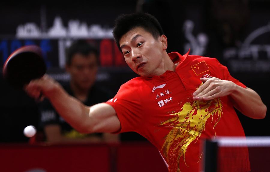 (体育)乒乓球世锦赛:马龙晋级海口哪里有赛龙舟2017图片