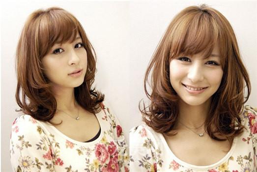 2013流行发型中长发 烫发 高清图片