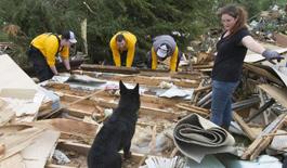 高清:美國俄克拉何馬州遭遇龍捲風
