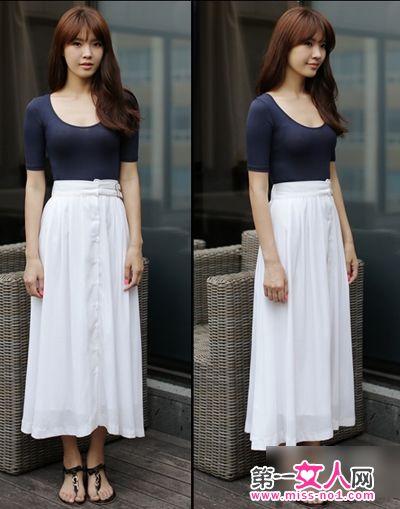搭配 长裙/短袖上衣搭配半身长裙