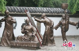 吴桥杂技大世界铜像