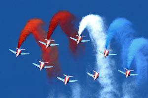 '法兰西巡逻兵'60年 多国飞行表演队献艺