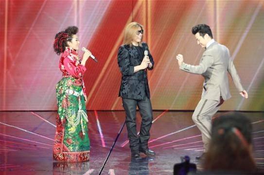 现场 任魯豫/5号选为了参加这次比赛,忙着毕业找工作的她放弃了参加新疆歌舞...