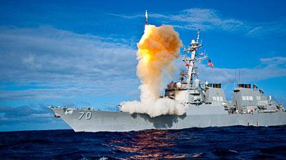 """美军反导中坚:""""宙斯盾""""导弹拦截系统"""