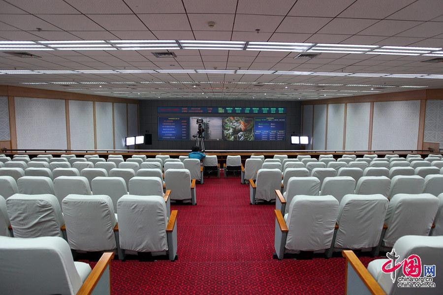 酒泉发射中心指挥大厅 中国网记者 杨丹 摄