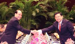 组图:两岸两会领导人第九次会谈在上海举行