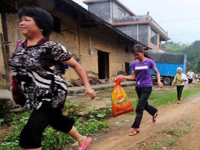 廣西連日暴雨 村民開展突發地質災害應急演練