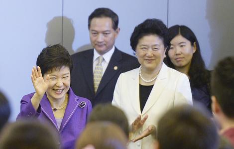 韩国总统朴槿惠清华大学演讲 刘延东陪同