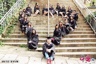 云南师大文理学院另类毕业照 欧巴 等等我们一起走