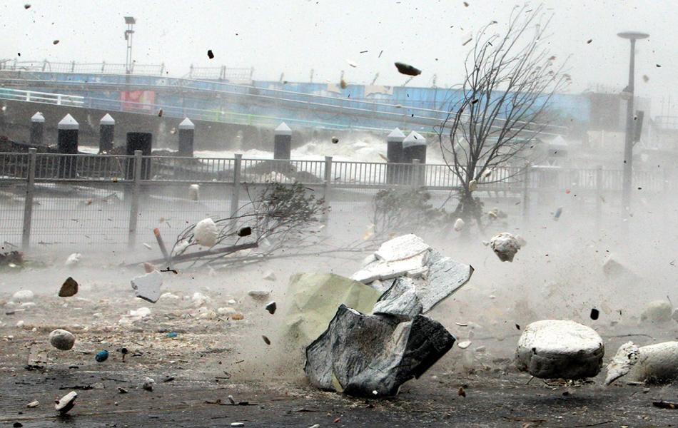 台湾发布苏力海上、陆上台风警报