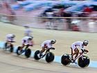 全运会自行车场地赛开赛 山东男团竞速夺魁[组图]