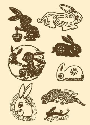 玉兔简笔画步骤图解