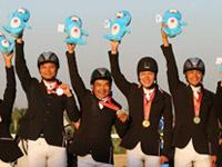 广东队获全运会马术三项赛团体赛冠军