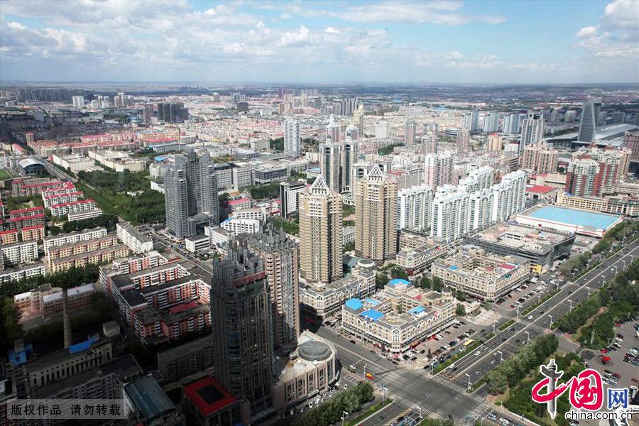 黑龙江哈尔滨城市鸟瞰。中国网图片库 游兵/摄