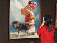 """藏獒:""""和美西藏""""画展上的高原精灵 [组图]"""