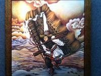 """藏族女画家唐瑟达娃:作品《在路上》契合""""和美""""主题 [图]"""