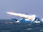中国海军公开022级隐形导弹艇发射瞬间震撼照片[组图]
