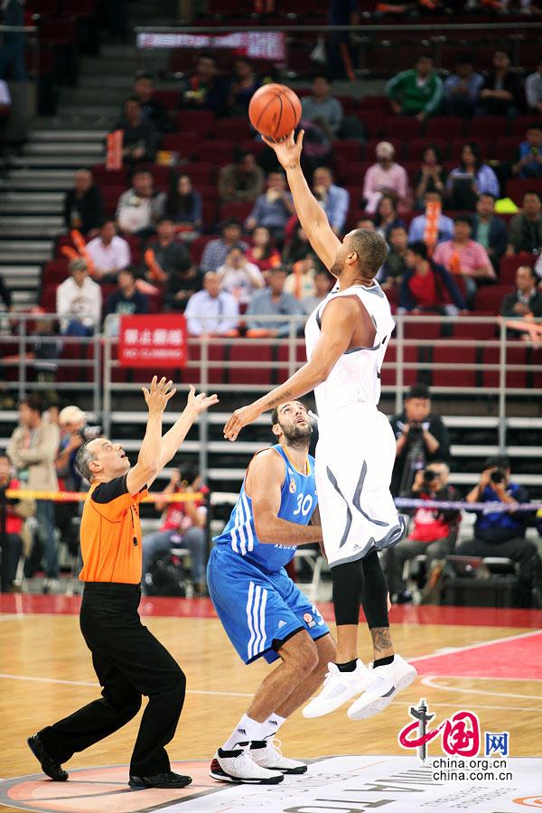 欧洲篮球首次中国之旅:北京金隅以86-92不敌皇家马德里队