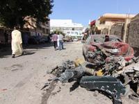 瑞典驻利比亚班加西领事馆外发生炸弹袭击 [组图]