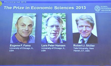 2013诺贝尔经济学奖揭晓 三名美国经济学家获奖