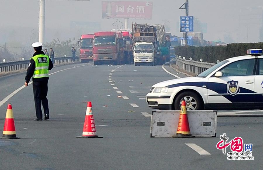 2013年11月14日,据山东交通信息网消息,由于g20青银高速青岛方向发生