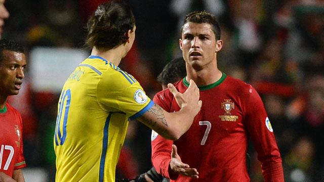 c罗3-2战胜伊布 葡萄牙晋级巴西世界杯