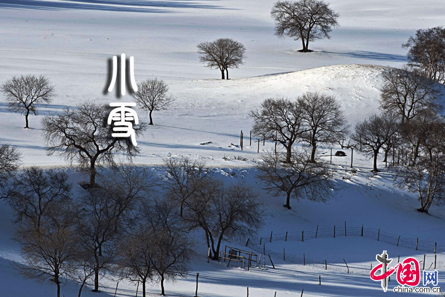 2013年11月22日今日小雪 11:48:06,农历十月二十。中国网图片库 供图