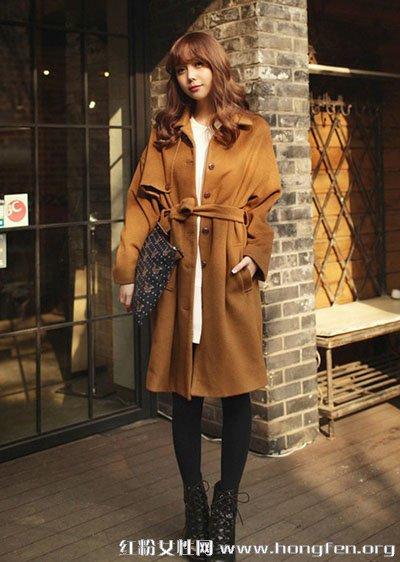 冬季女装呢子大衣搭配